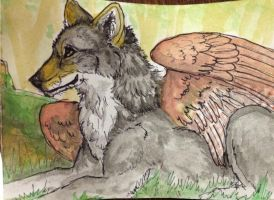 Wolf in the Woods by firedanceryote