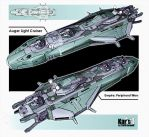Auger Light Cruiser by KaranaK