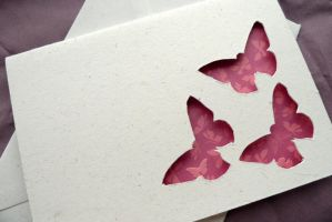 Butterfly Trio - Cut Out Card by RubyWren
