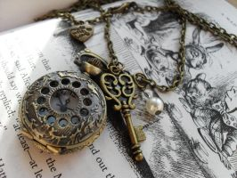 Pocket Watch Necklace by EllisinWonderland4