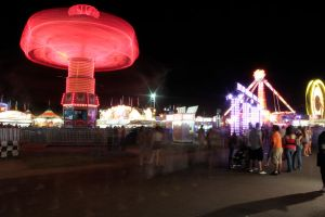 Midway by night by VileYonderboy