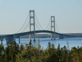 Mackinac Bridge by historicbridges