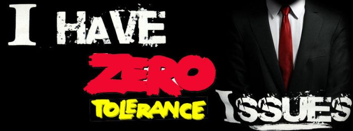 I Have Zero Tolerance Issues Facebook Cover by raisrulez