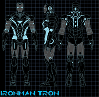 ironman tron by bagera3005