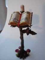 Book Pedestal by Minifanaticus