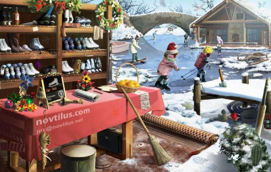 Skate field with objects by novtilus