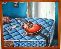 The Guitar On The Bed by jslinko