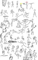 Stick Figure Poses by CCrystal14