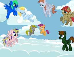 Pegasus cloud party by cullenster4