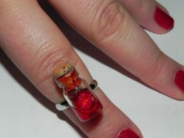 Insanity, Edgar Allan Poe Inspired Heart Ring by Secretvixen