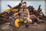 Mr. Junkrat : Fire In The Wig ! :D by baka-tschann