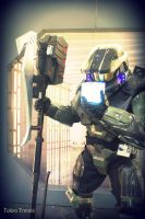 Master Chief and The Tesseract by Tokyo-Trends