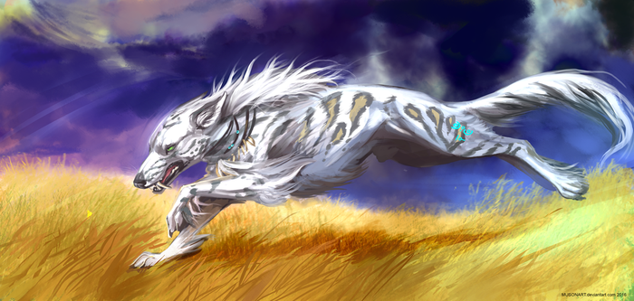 |Comissions| White lightning by MUSONART