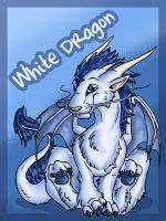 White Dragon conbadge by Ellie-theAzurea