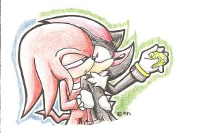 .:Knuxadow:. - Stay here by kaya1231