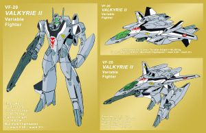 VF-2SS Valkyrie II as VF-20 by Grebo-Guru