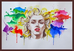 marilyn monroe watercolour by silvern90