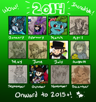 2014 Art Thing by KokiriMisty
