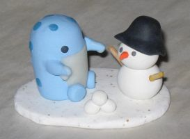 Winter Fun Quaggan Calf Statue by Erajia