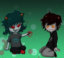Terezi and Karkata by someone-no1-1230000