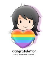 Congratulation every same-sex couples by DeluCat