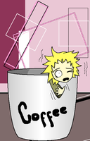 Tweek in a coffee cup by Durrender