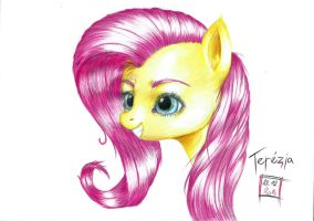 Finished picture of Fluttershy by Integra-Rahaby