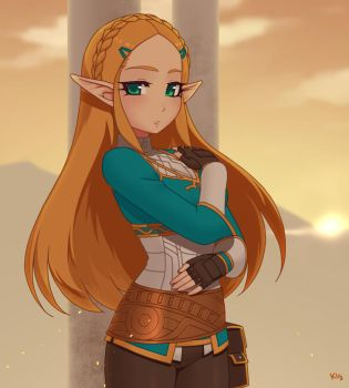 Zelda BOTW by Kuroonehalf