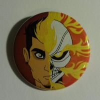 Ghost Rider Button by ToonSkribblez