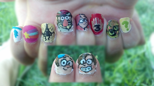 Gravity Falls Nails by JelloJolteon2000