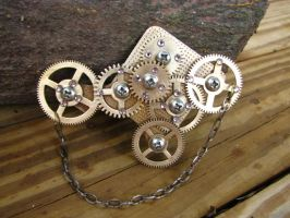 Steampunk Brooch with Gears by bcainspirations
