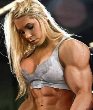 Pretty blonde muscled by Turbo99