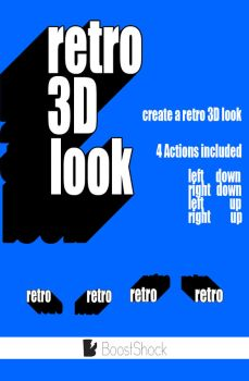 3D Retro Action for Photoshop by wwcrap