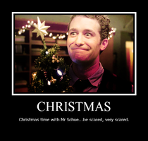 Christmas time with Mr Schue by Tiernz