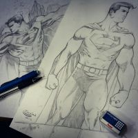 Superman sketchs for C2E2 by Sajad126