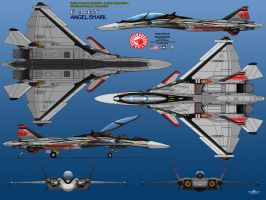 FA-45N Angel Shark - VF-1 Wolfpack by haryopanji