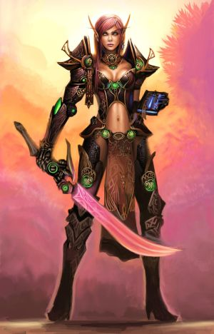 para los que elijan elfos.... Blood_Elf_Paladin_by_Shiramune