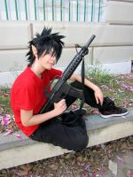 Eyeshield21 : Hiruma Yoichi child version by MischievousBoyAilime