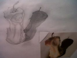 apple-drawing by JemzLeigh