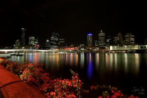 Brisbane from Southbank by jaydoncabe