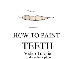 How to paint teeth by tenemos-churros