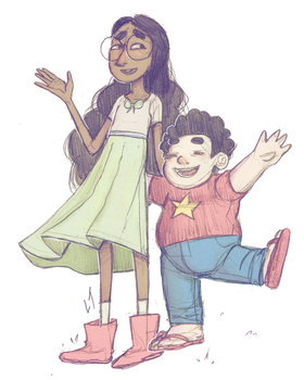 connie and steven by Deserea-Q