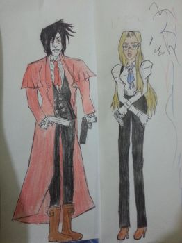 alucard you handsome dog by huma-nist
