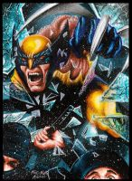 Wolverine Crashing The Party by Twynsunz