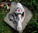 Leather Wolf Skull Mask by merimask
