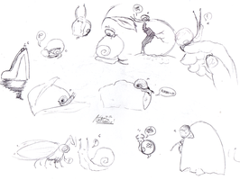 Snail Pen Sketches by InvaderSonicMx