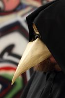 Plague Doctor Leather Mask by OsborneArts