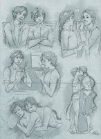 Commission 105 - Ezra/Rhys sketchpage by Nike-93
