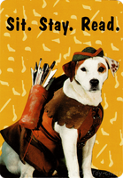 Wishbone Card - Sit. Stay. Read. by The-Toy-Chest