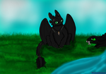 Corfu and Toothless by Shadowphonix11
